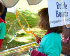 Bubbles of all sizes will fill the air on Rutgers Day.
