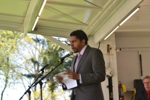 Ambassador Camillo Gonsalves brings greetings from St. Vincent and the Grenadines.