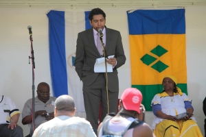 Camillo Gonsalves, permanent representative to the United Nations for St. Vincent and the Grenadines, shared the story of the Garifuna people.