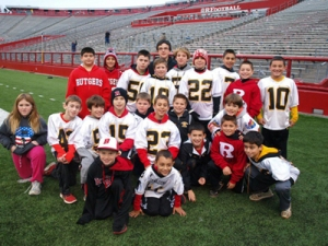 Kids affected by Sandy can submit an essay for a chance to play the final five minutes of the spring game.