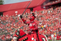 Scarlet knight at football game vs Howard University