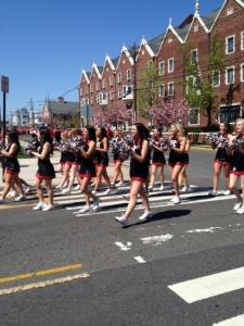 The Rutgers dance team entertained the crowd.