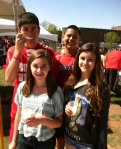 Students from Bound Brook enjoy nitro ice cream.